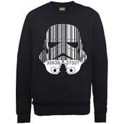 Star Wars Command Stormtrooper Barcode Sweatshirt - Black