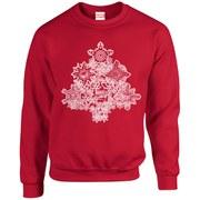 Marvel Kids' Comics Christmas Tree Sweatshirt - Red