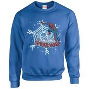 Marvel Kids' Comics Christmas Spider-Man Sweatshirt - Royal