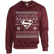 DC Originals Christmas Superman Kids Sweatshirt - Maroon