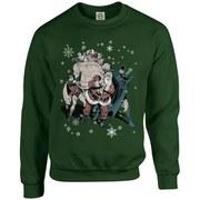 DC Originals Christmas Batman and Robin Santa Claus Kids Sweatshirt - Forest Green