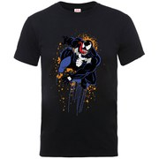 Marvel Men's Ultimate Spider-Man Halloween Venom T-Shirt - Black