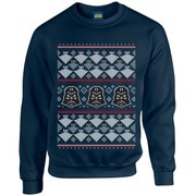Star Wars Kids' Christmas Darth Vader Imperial Starship Sweatshirt - Navy