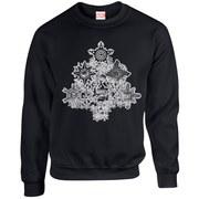 Marvel Comics Christmas Tree Sweatshirt - Black
