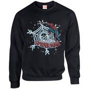 Marvel Kids' Comics Christmas Spider-Man Sweatshirt - Black