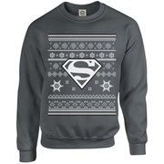DC Originals Christmas Superman Kids Sweatshirt - Charcoal