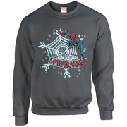 Marvel Comics Christmas Spider-Man Sweatshirt - Charcoal
