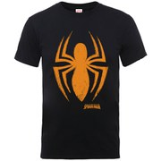 Marvel Men's Ultimate Spider-Man Halloween Spider Logo T-Shirt - Black