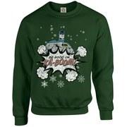 DC Originals Christmas Batman Be Good or Kaboom Sweatshirt - Forest Green