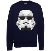 Star Wars Command Stormtrooper Geometric Sweatshirt - Navy