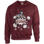 DC Originals Christmas Batman Be Good or Kaboom Kids Sweatshirt - Maroon
