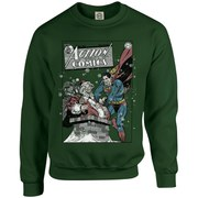 DC Originals Christmas Superman Cover Sweatshirt - Forest Green