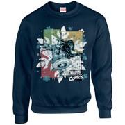 Marvel Kids' Comics Christmas Black Widow Captain America Sweatshirt - Navy