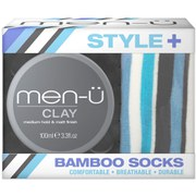 men-ü Style+ Bamboo Socks with Clay