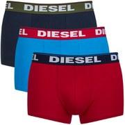 Diesel Men's Shawn 3 Pack Boxers - Navy/Red/Blue
