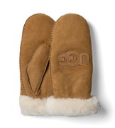 UGG Australia Women's Classic Collection Heritage Logo Mittens - Chestnut/Multi