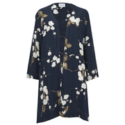 Ganni Women's Floral Kimono - Navy Japanese Flower