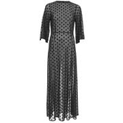 Ganni Women's Sheer Dots Dress - Black