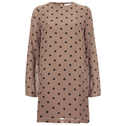 Ganni Women's Polka Dot Dress - Nougat Polka