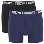 Tokyo Laundry Men's 2-Pack Malone Boxers - Medieval Blue/Black