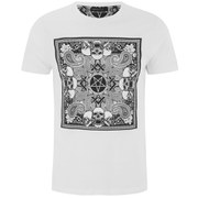 Brave Soul Men's Gothic Printed T-Shirt - White