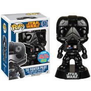 NYCC Star Wars Tie Figher Pilot Black Chrome Exclusive Funko Pop! Figuur