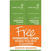 Living Nature Sensitive Cleanser Promotion (100ml) (Worth £42)