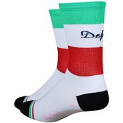 DeFeet Aireator Tall Italia Socks - Red/White/Green