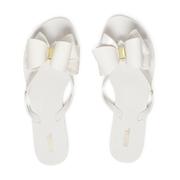 Melissa Women's Harmonic Twin Bow Flip Flops - White