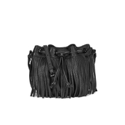Rebecca Minkoff Women's Fringe Micro Lexi Bucket Bag - Black