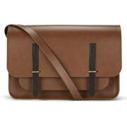 The Cambridge Satchel Company Men's Bridge Closure Messenger Bag - Vintage/Dark Brown