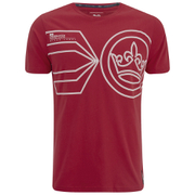 Crosshatch Men's Pegasus Print T-Shirt - Haute Red