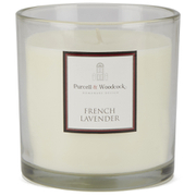 Purcell & Woodcock Large Glass Candle - French Lavender