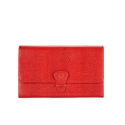 Aspinal of London Women's Classic Travel Wallet - Berry Red