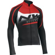 Northwave Extreme Graphic Long Sleeve Jersey - Black/Red