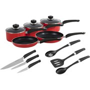 Morphy Richards 977503 5 Piece Pan Set - Red