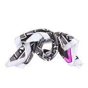 KENZO Women's Logo Barre Scarf - Anthracite