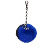Diane von Furstenberg Women's Bicolour Fur Pom Pom Charm - Cobalt/Black