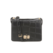 Diane von Furstenberg Women's Gallery Croc Leather Cross Body Bag - Black
