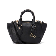 Diane von Furstenberg Women's Itsy Small Double Zip Leather Tote Bag - Black