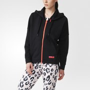 adidas Women's Stella Sport Gym Full Zip Hoody - Black