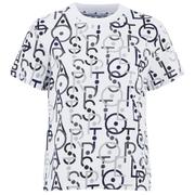 adidas Women's Stella Sport Gym Print Logo T-Shirt - White