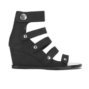 Opening Ceremony Women's Pebbled Nubuck Olivia Wedged Sandals - Black