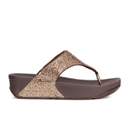 FitFlop Women's Superglitz Toe Post Sandals - Copper