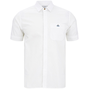 Vivienne Westwood MAN Men's Tartan Krall Short Sleeve Shirt - White