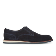 BOSS Orange Men's Volee Suede Derby Shoes - Dark Blue