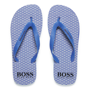 BOSS Orange Men's Loy Flip Flops - Medium Blue