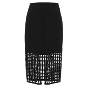 Finders Keepers Women's Stand Still Skirt - Lattice Black