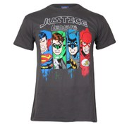 DC Comics Men's Justice League T-Shirt - Charcoal