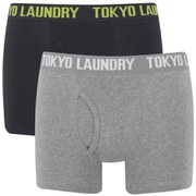 Tokyo Laundry Men's 2-Pack Concord Boxers - Dark Navy/Mid Grey Marl